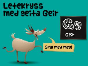 Letekryss med geita Geir