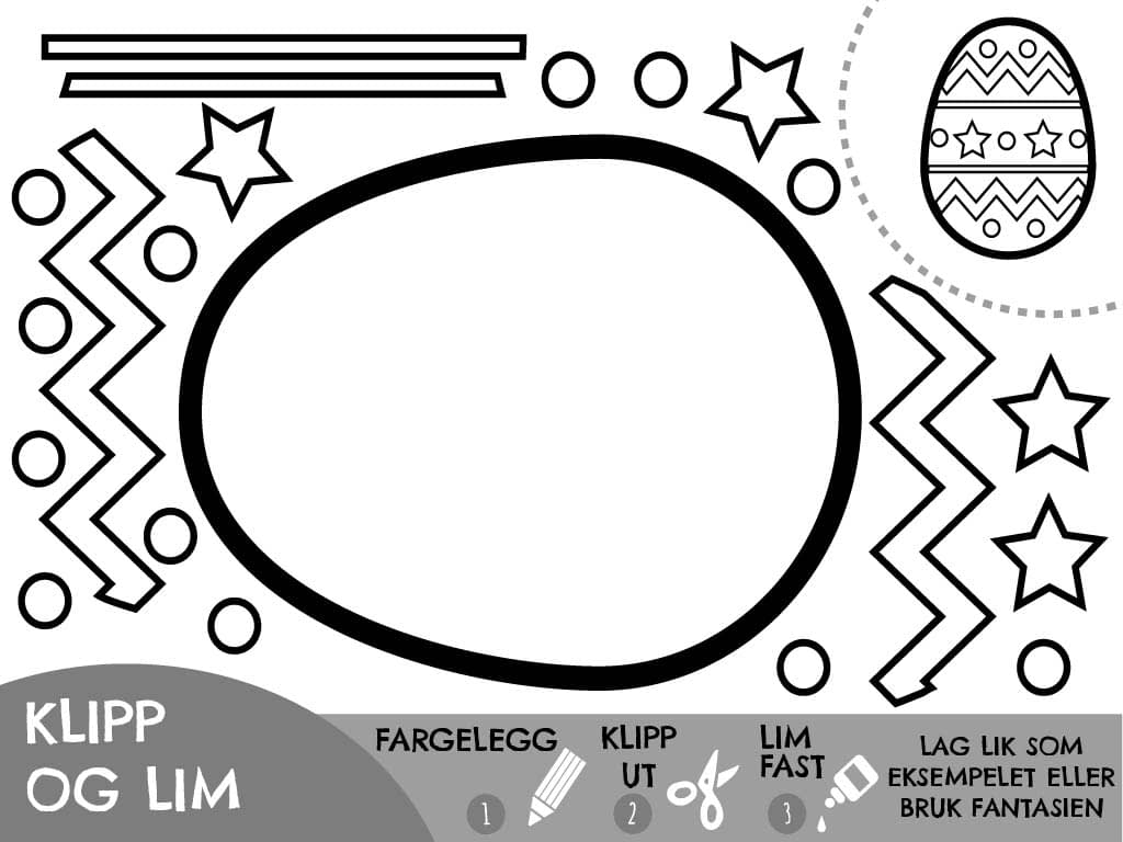 Klipp og lim egg