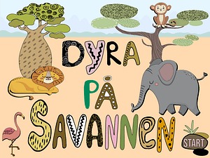 Dyra på savannen